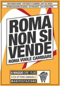 Roma Non Si Vende! - Manifestazione cittadina @ Roma | Lazio | Italia