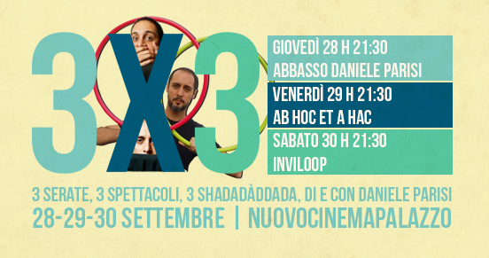 3x3 | di e con Daniele Parisi